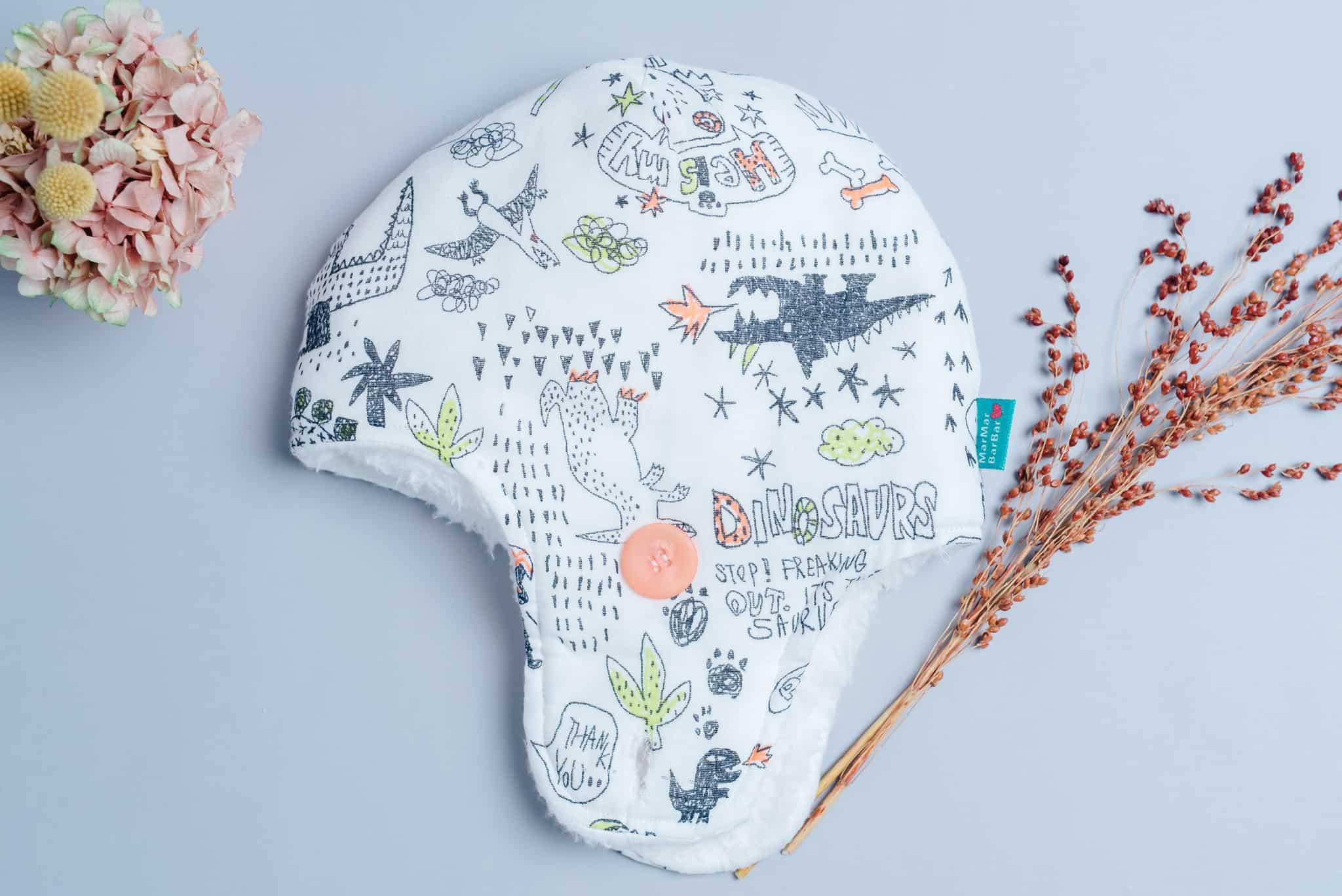 遮耳飛行帽(毛料)-訂製 自然5