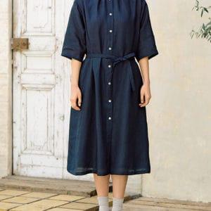 綁帶連身洋裝(長袖)-訂製