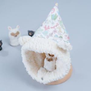 脖圍精靈帽-訂製 動物4-紗vs雪花毛