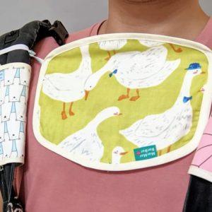 四層紗貼臉口水巾-訂製 動物15-紗