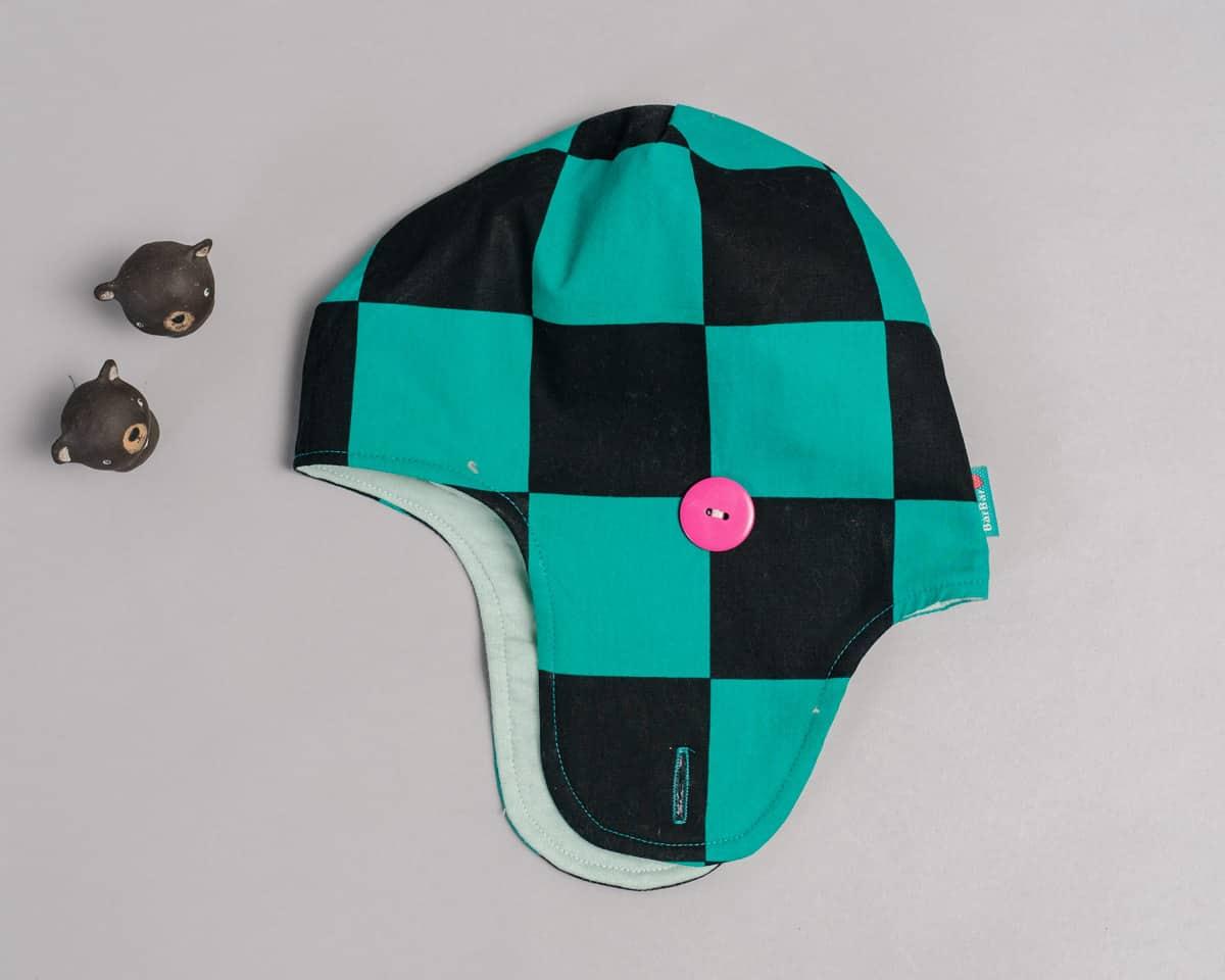 遮耳飛行帽(毛料)-訂製 和風1vs高厚7
