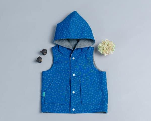 鋪棉戴帽(雙面)背心-訂製 幾何6vs高厚3