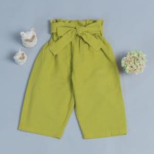 腰帶長褲-訂製 棉麻26