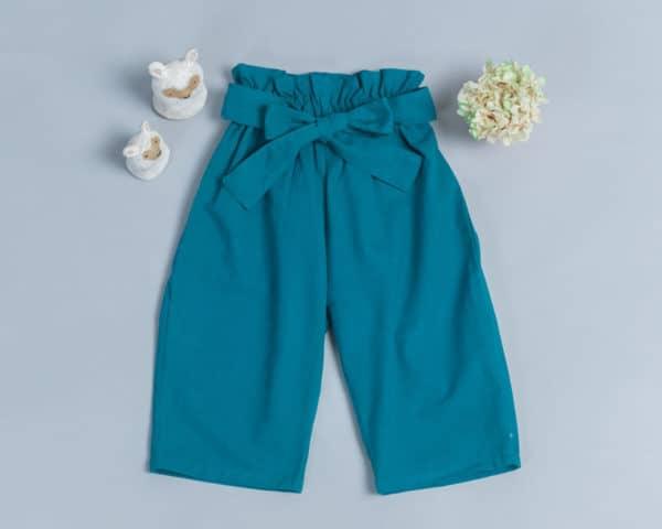 腰帶長褲-訂製 棉麻30