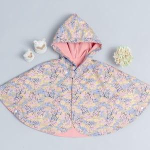 雙面雨衣斗篷-現貨 和風15 90-100cm