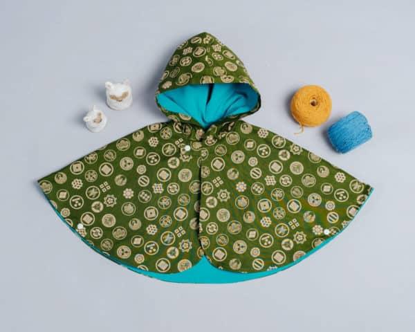 雙面雨衣斗篷-現貨 和風12 90-100cm